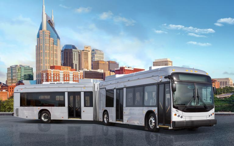 Articulated bus in North America